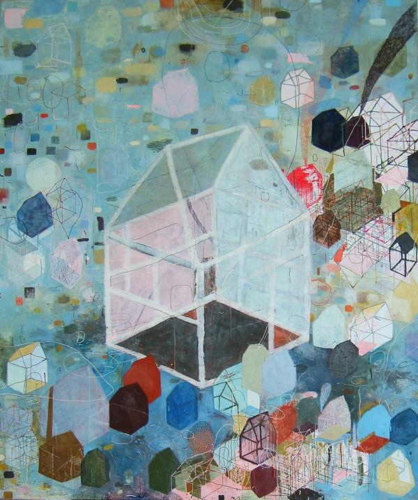 Friederike Knapp:Malerei Hausen
