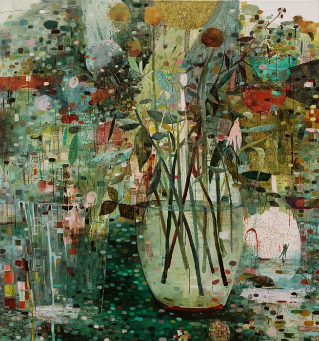 Friederike Knapp:Malerei Blumenstrauß